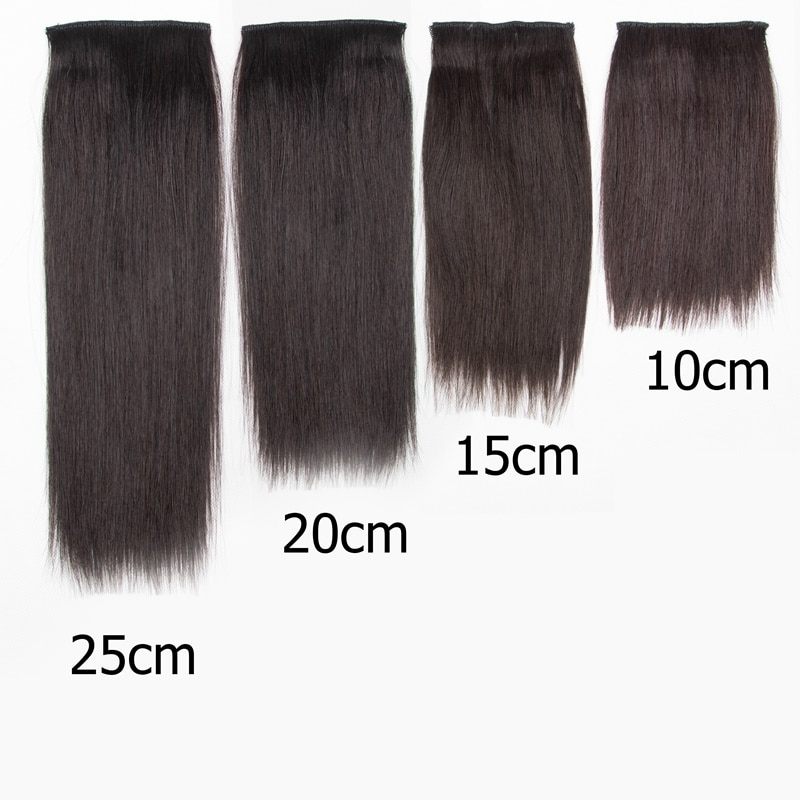 Mrshair Straight Patch Hair Pieces Clipin Hair Extensions 100% Human Hair Secret Fluffy & Cover Top/Side Root Hair Hairpiece