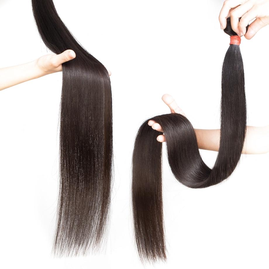 Bone Straight Human Hair Bundles 30 32 34 36 38 40 Inch Brazilian 100% Human Hair Remy Extensions Weave 3 Bundle Deals For Women