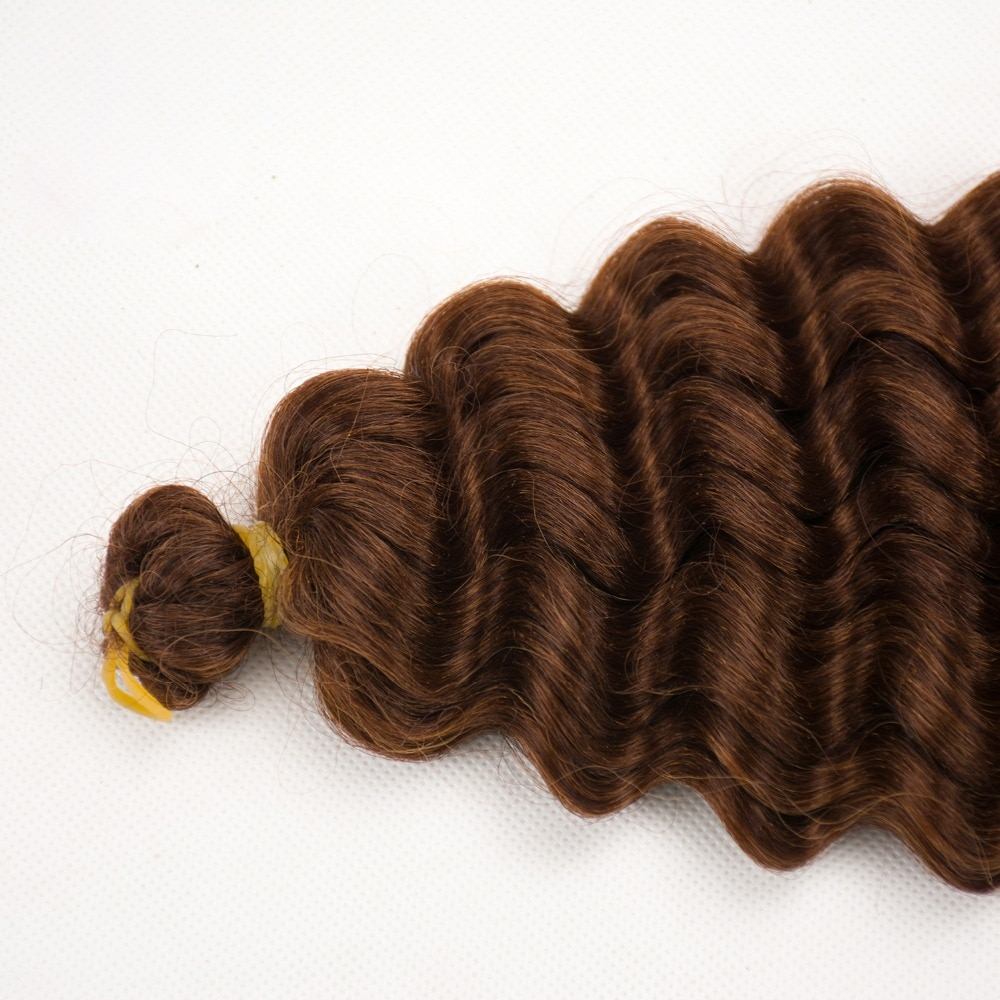 Dream ice's Synthetic Curly Ombre Crochet braid hair extensions  Deep pre-looped crochet twist hair braiding