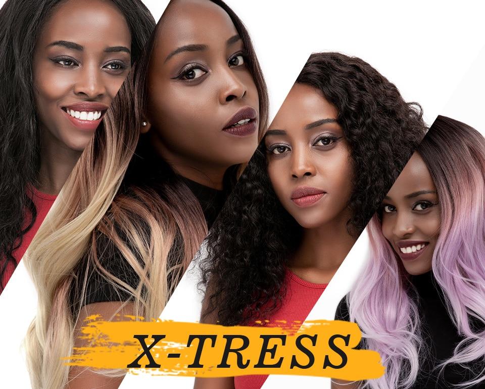 Synthetic Crochet Braids Messy Goddess Locs Hair Extension Ombre Brown River Faux Locs Braiding Hair For Black Women X-TRESS