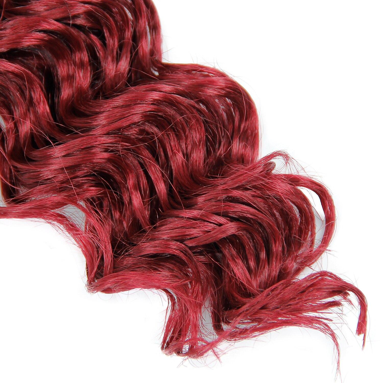 18inches Synthetic Deep Twist Crochet hair Bohemian Crochet Braids Ombre Color Deep Wave Braiding Hair Extension