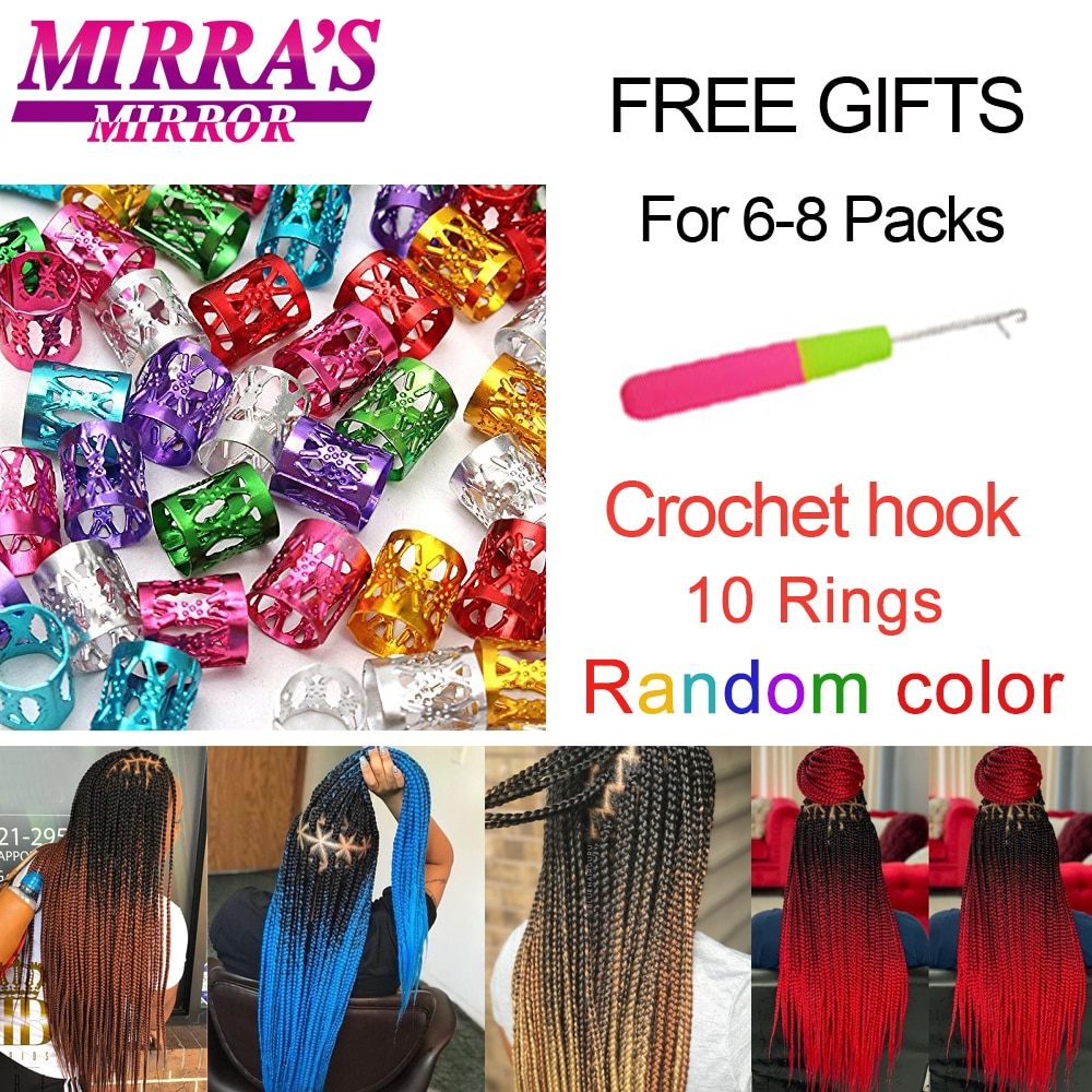 Mirra's Mirror Hair Extension Pre Stretched Braiding Hair Synthetic  Jumbo Braid Hair Extensions Easy to Braiding Twist Hair