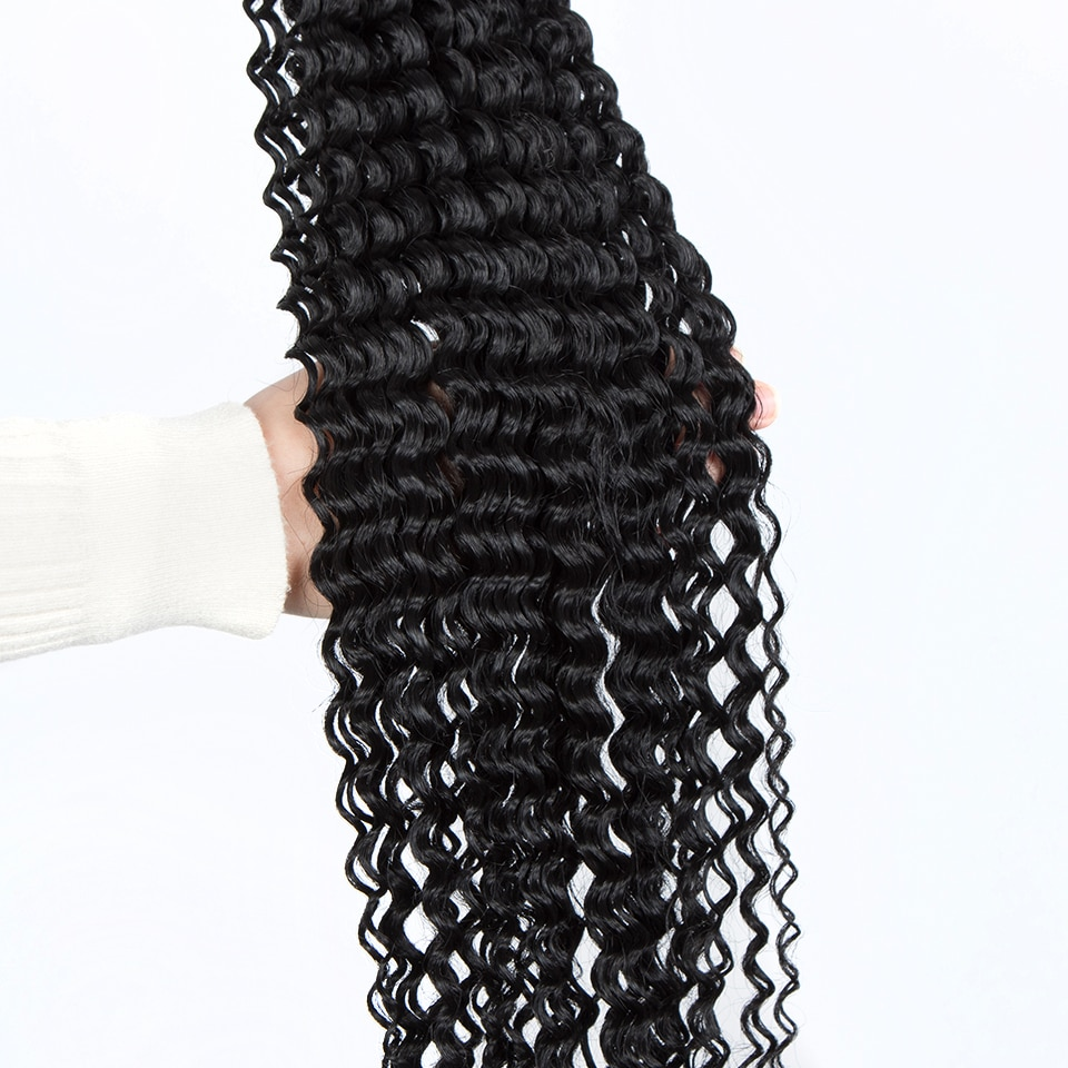 FASHION IDOL Water Wave Crochet Hair 30 Inch Soft Long Synthetic Hair Goddess Braids Natural Wavy Ombre Brown Hair Extensions
