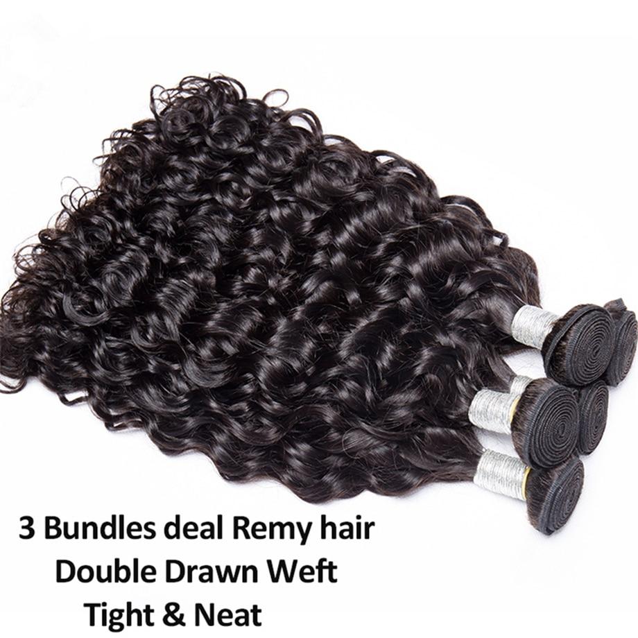 water wave human hair bundles curly deep brazilian hair weave bundles long hair extension 30 inch 1 3 4 bundles remy extensions
