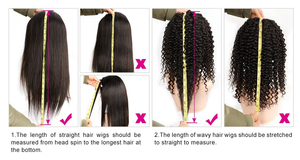 Kisshair Natural Color Wavy Hair Wig Brazilian Human Hair Extension Black Non-Remy Full Machine Made Glueless Wigs