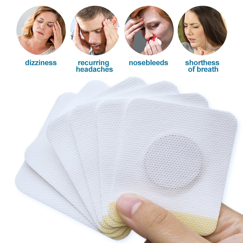 6/24pcs Hypertension Patch Herbal Reduce High Blood Pressure Clean Blood Vessel Plaster  Hypertension Care Products Health Care