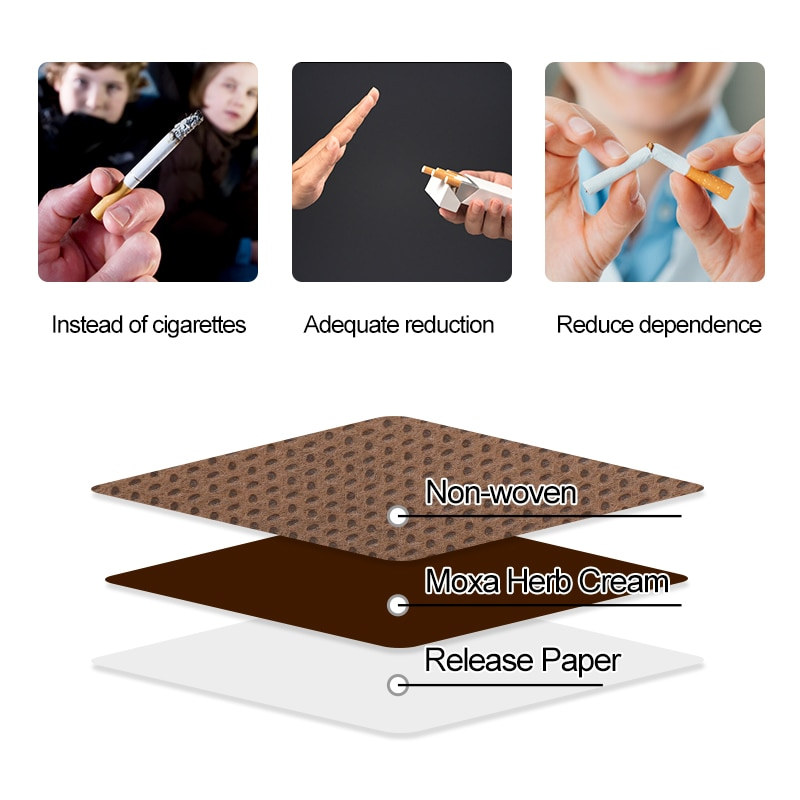 Sumifun 30pcs=6bags Natural Ingredient Stop Quit Patch Anti Smoke  Cessation Pad Chinese Herbal Medical Plaster Health Care