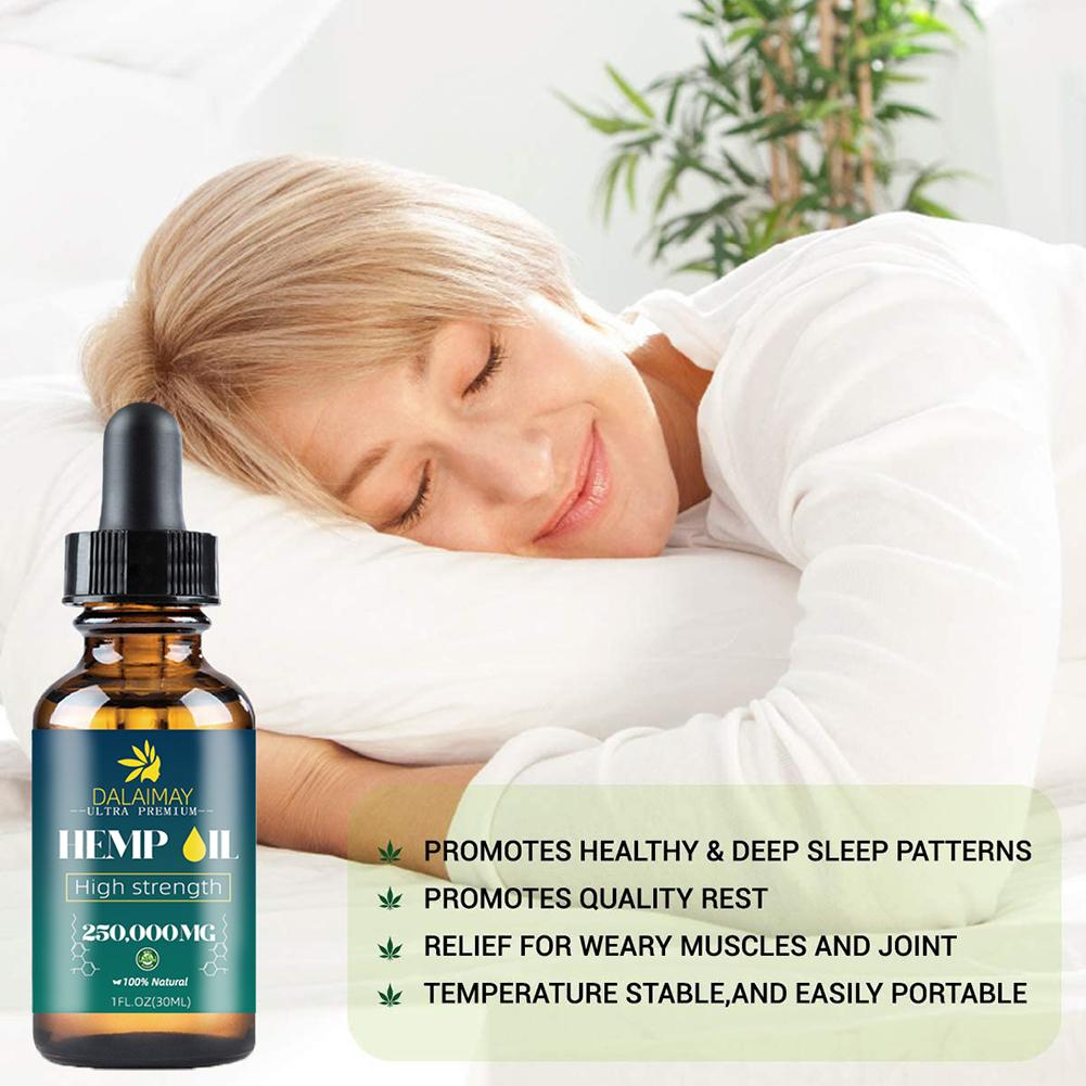 Natural Organic Hemp Seed Oil Essential Oil Extract For Anxiety & Stress Relief Improve Sleep Soothing Fatigue Body Massage Oil