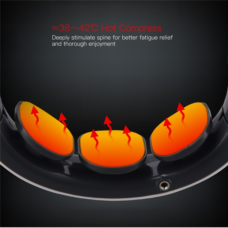 4D Smart Electric Neck and Back Pulse Massager TENS Wireless Heat Cervical Vertebra Relax Pain Relief Kneading Massage Machine