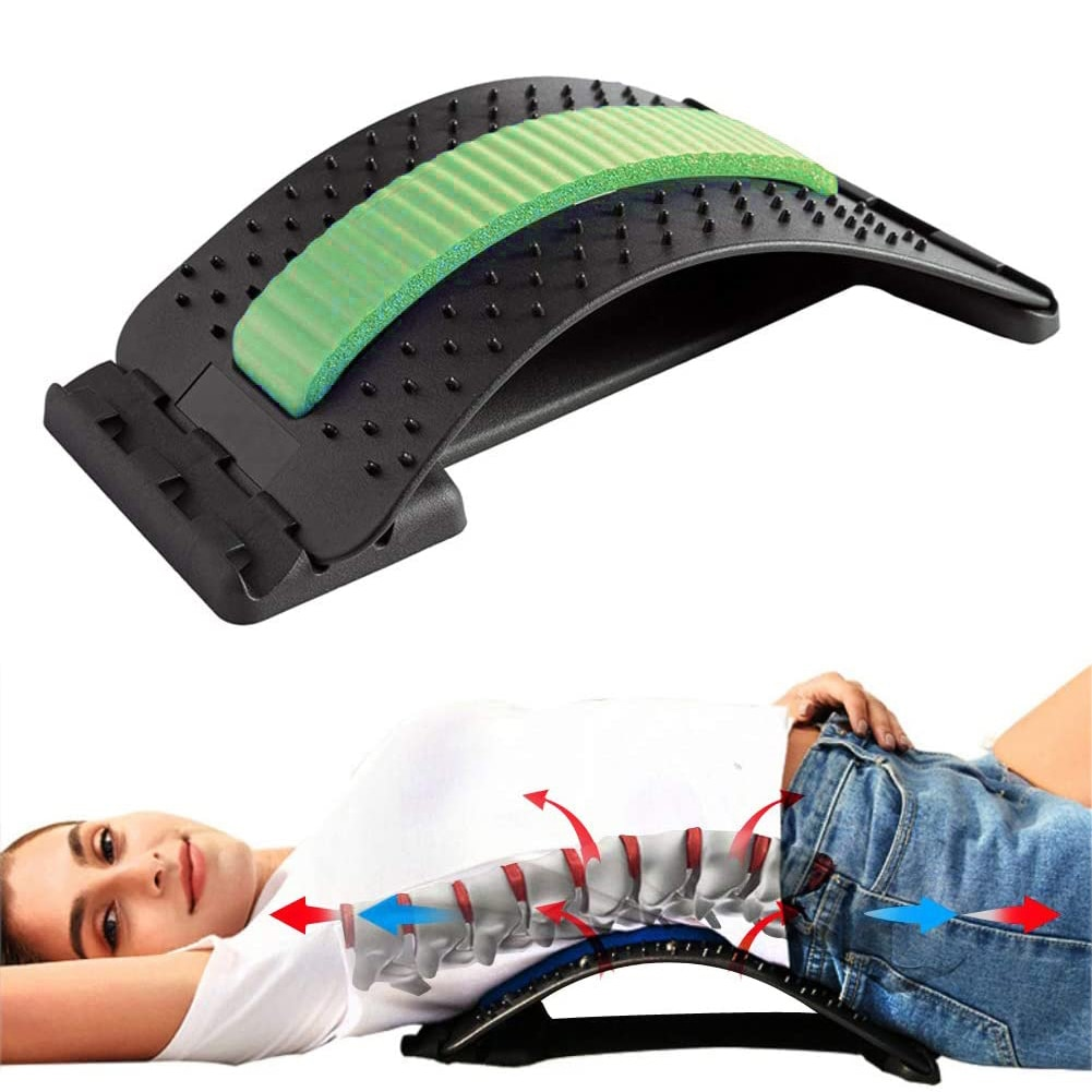 Multicolor Back Stretch Waist Cushion Waist Back Massager Fitness Relaxation Pain Relief Lumbar Support Spine Posture Corrector