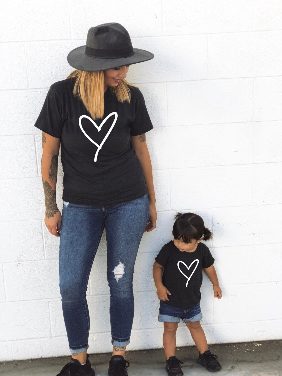 2020 summer family matching clothes mommy and me tshirt mother daughter son outfits mum mom t-shirt baby girl boys t shirt