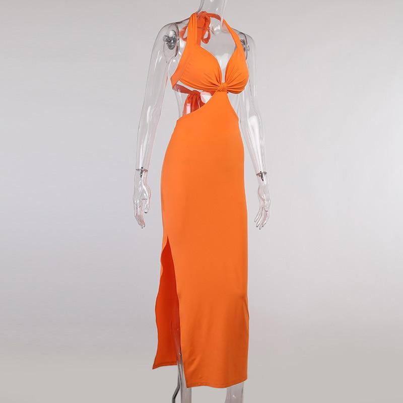 Halter Backless Long Summer Dresses For Women 2021 Boho Maxi Dress Bohemian Sexy Elegant Long Party Dress Beach Wear