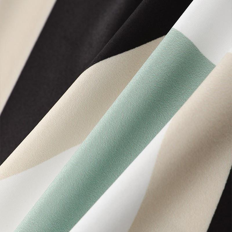 Women Dresses 2021 Summer Dot Letter Print V-Neck Three Quarter Sleeve Belt Irregular Dress Elegant Office Lady Casual Wear New