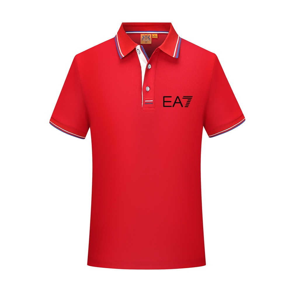 New Men's Polo Shirts Men's Short-sleeved Polo Shirts Pure Color Polo New T-shirts Summer Casual Business Men's Shirts