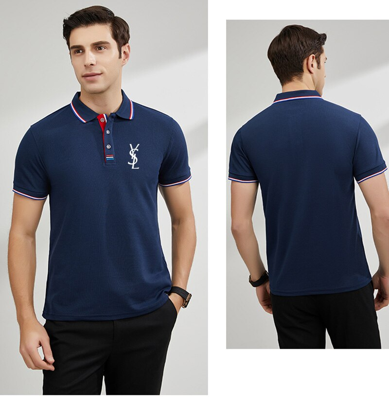 2021 Summer Power Cotton Men's POLOS Casual Short Sleeve Pure Color Unisex Crew Neck Hip Hop T-Shirt Funny Sports Top