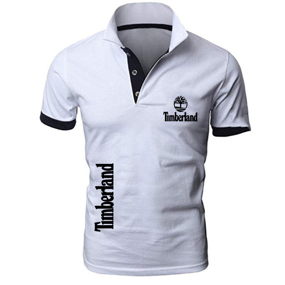 Summer 2021 Men's fashion Logo Polo Casual Short Sleeves Man Tops Outdoor Customize T-shirts Solid color Tshirts Tee