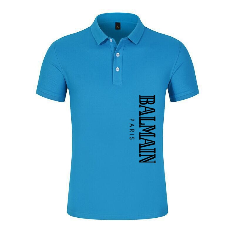 2021 NEW Men's Lapel short sleeve polo, fashion high-end T-shirt, comfortable and breathable, business friendly XS-3XL