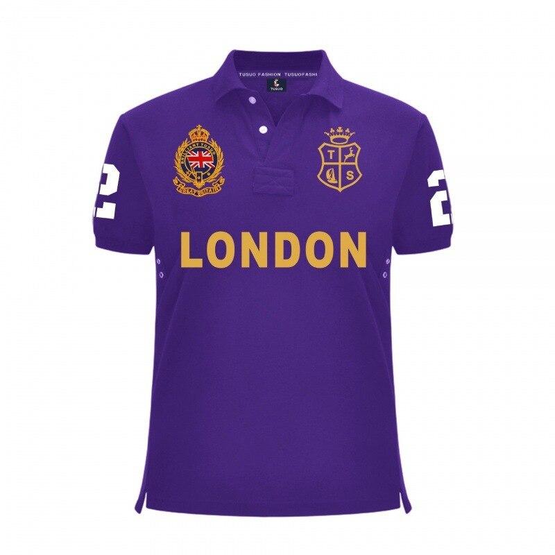 Summer Men's Polo Shirt Fashion Casual Short Sleeves High Quality Mens T Shirt Embroidery Plus Size Men Brand Cotton Tshirt