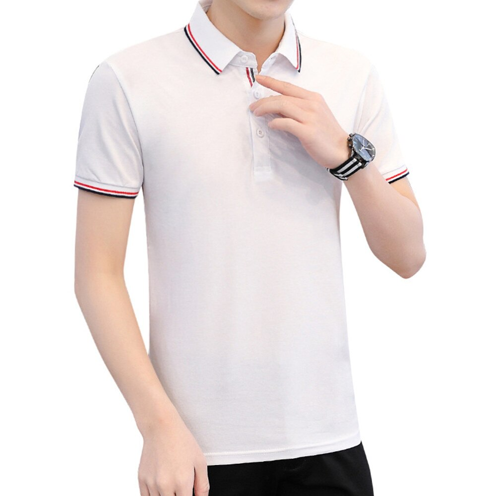 2021New Fashion  Summer Mens Polo Shirts Cotton Shirts Short Sleeve  Embroidered  Simple Shirt For Male Size M-4XL